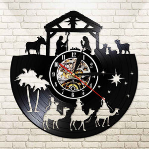 Nativity Custom LP Clock