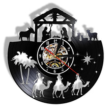 Load image into Gallery viewer, Nativity Custom LP Clock
