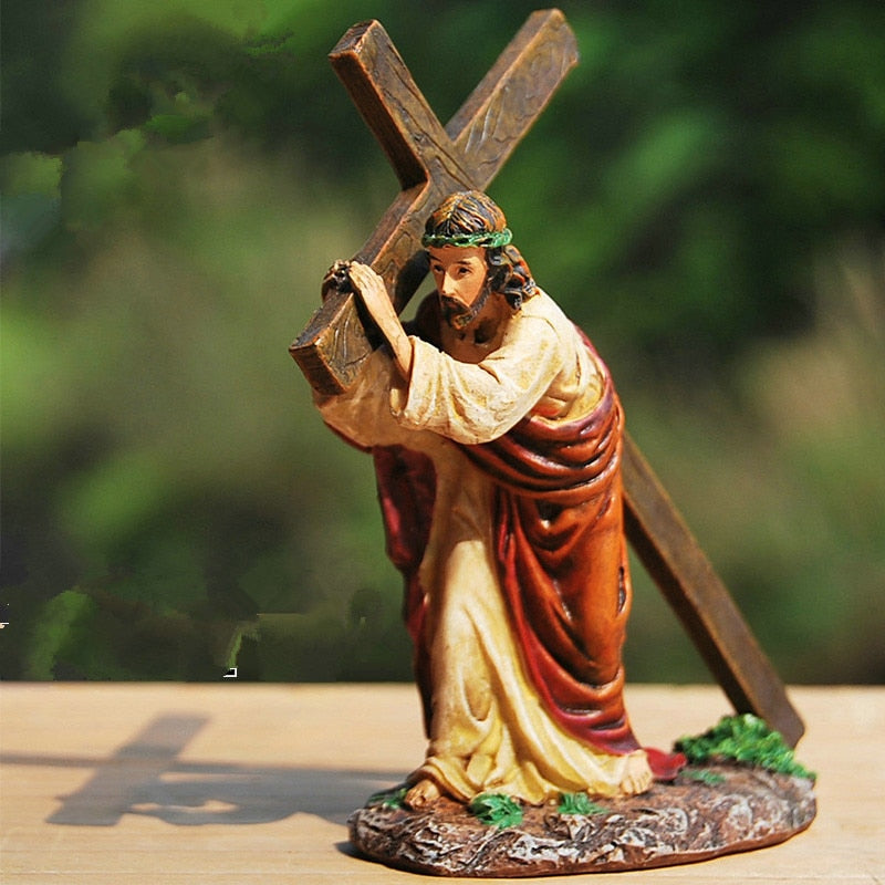 Carrying the Cross Shelf Decor
