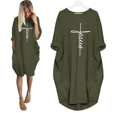 Load image into Gallery viewer, 2021 Jesus Heaven's Clouds on Earth Fashion Comfort Dress with Pockets