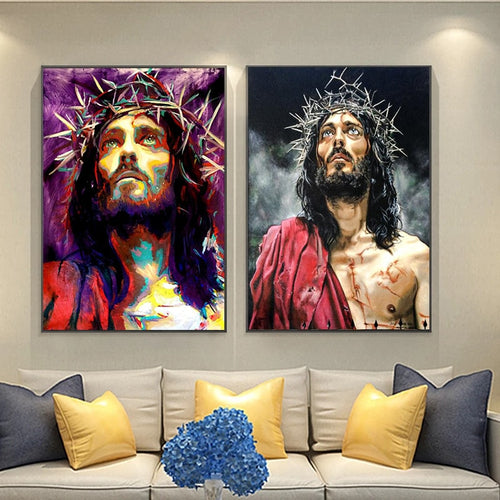 Crown Of Thorns Christ Canvas Poster Collection