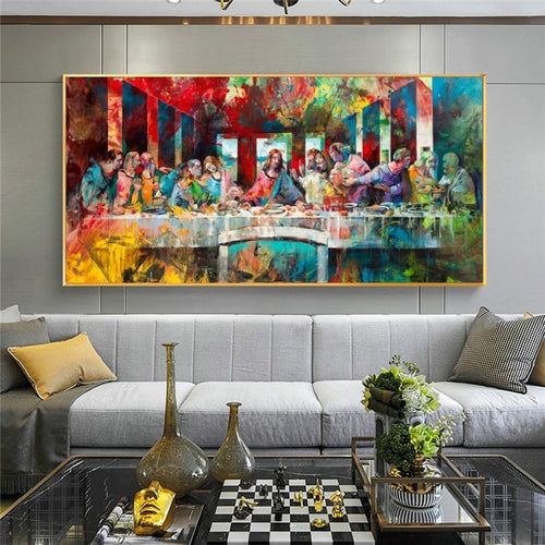 Color of Christ The Last Supper Cloth Fabric Unframed Poster
