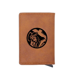 Jesus Faux Leather Durable Waterproof Wallet