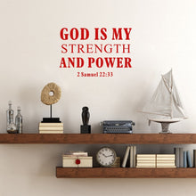 Load image into Gallery viewer, 2 Samuel 22:33 Wall Vinyl