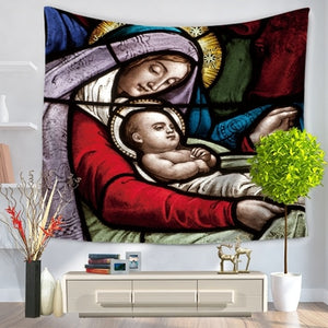 Mary's Blessing Vivid Wall Tapestry/Sofa Cover