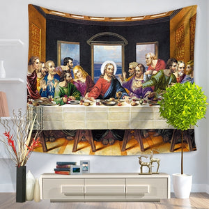 Last Supper Vivid Wall Tapestry/Sofa Cover