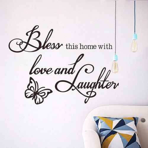 30CMx50CM Love and Laughter Wall Vinyl