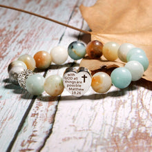 Load image into Gallery viewer, With God All Things Are Possible Fashion Vintage Bracelet