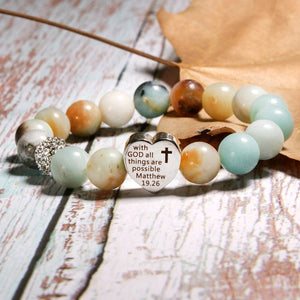 With God All Things Are Possible Fashion Vintage Bracelet
