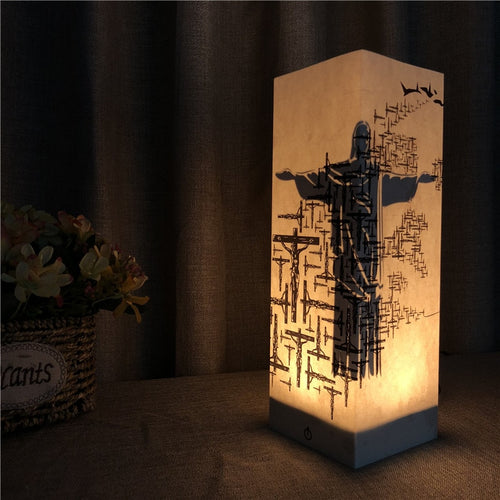 Jesus Crucifixion, Resurrection 3D Shadow Lamp
