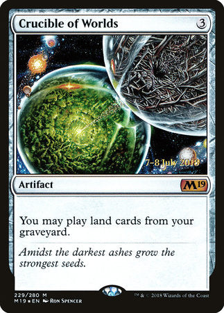 Crucible of Worlds [Core Set 2019 Promos] | Gauntlet Food & Games Kendaville