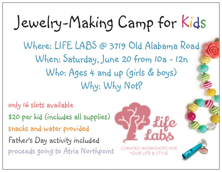 Jewelry Making Workshop with BloVintage | Saturday, June 20 10 am - 12 pm
