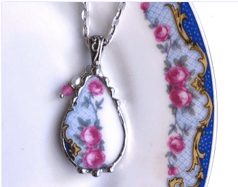 Hand Made Broken China Necklaces | Private Party