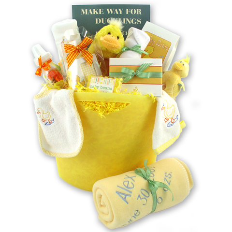 Make Way for Ducklings - Baby Gift Basket