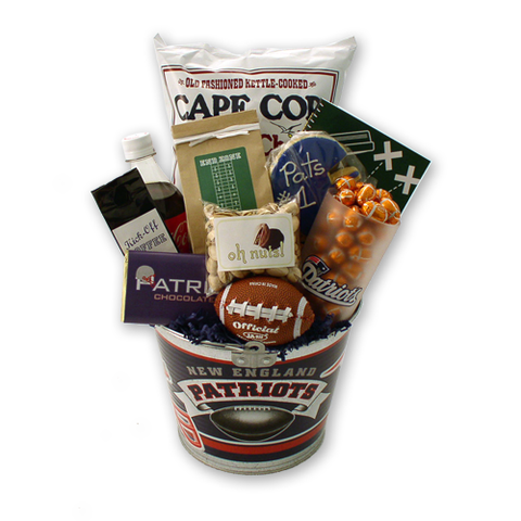 Go Patriots! - Football Gift Basket