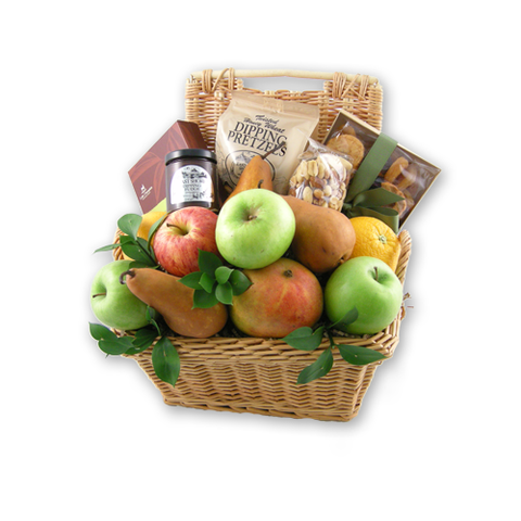 With Sincere Sympathy - Edible Fruit Basket