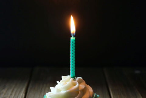 Birthday Candle On A Cake