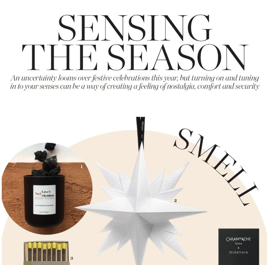 Our Volcanic Potpourri featured on a page in Elle Decoration Magazine