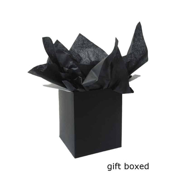 Black Gift Box With Black Tissue Gift Wrap