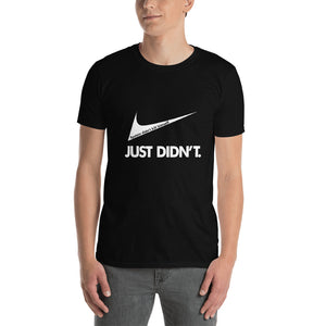 Dark Short-Sleeve Unisex T-Shirt (White Ink)