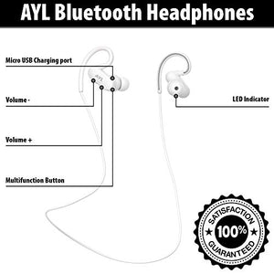 AYL Bluetooth Headphones Sweatproof Running - Wireless Earbuds Sport, Richer Bass Stereo in-Ear Earphones w/Mic, Noise Cancelling Headsets with Wireless Headphones Buds