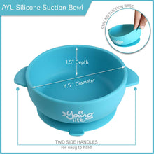 Load image into Gallery viewer, Silicone Baby Bowl (Pack of 3) & 1 Soft Spoon – Spill Proof Feeding Bowl with Suction Cup Base – BPA Free & Nontoxic Snack Container for Toddlers – Perfect Baby Shower Gift Set