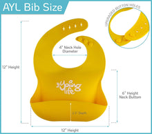 Load image into Gallery viewer, Waterproof Silicone Bib – Easy to Clean Comfortable Soft Baby Bibs – BPA Free - Lightweight & Convenient Set Includes 2 Colors for Babies or Toddlers!