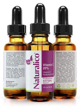 Load image into Gallery viewer, Naturalico Anti Aging Organic 20% Vitamin C Serum for Face with Hyaluronic Acid 1 Oz
