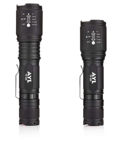 AYL LED Flashlight Tactical Flashlight - [2 Pack] 1000 High Lumens CREE Torch Light, Ultra Bright Emergency Handheld Flashlights