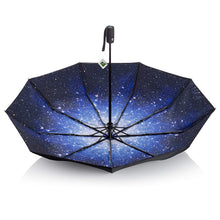 Load image into Gallery viewer, AYL Windproof Travel Umbrella Small - with Teflon Coating (Starry Night)