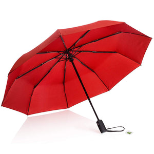 AYL Windproof Travel Umbrella Small - with Teflon Coating (Red)