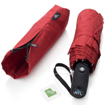 Load image into Gallery viewer, AYL Windproof Travel Umbrella Small - with Teflon Coating (Red)