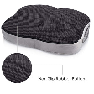 Naturalico 100% Memory Foam Portable Seat Cushion with Cooling Gel Pad for Coccyx Tailbone and Sciatica Back Pain