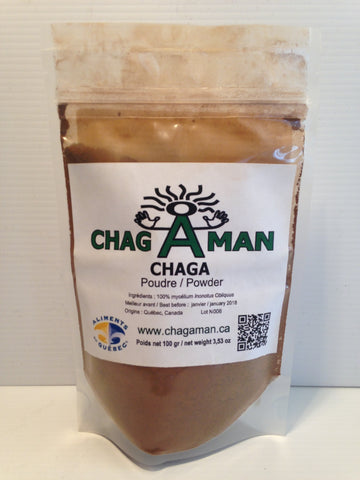 sachet/pouch up 100 gr ou/or 50 gr poudre de chaga /chaga powder
