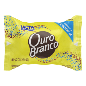 Bombom Ouro Branco Lacta unidade 20g - Things of Brazil