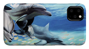 Blue Dolphins - Phone Case