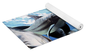 Blue Dolphins - Yoga Mat