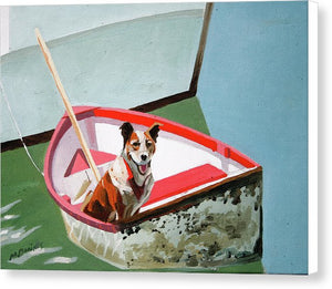 Dinghy Dog - Canvas Print
