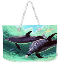 Load image into Gallery viewer, Dolphins And Turtle - Weekender Tote Bag