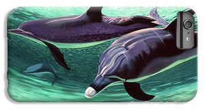 Dolphins And Turtle - Phone Case