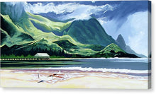 Load image into Gallery viewer, Hanalei Canoe And Pier - Canvas Print