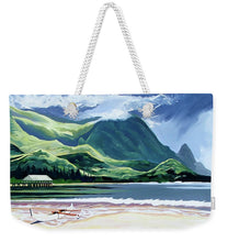 Load image into Gallery viewer, Hanalei Canoe And Pier - Weekender Tote Bag