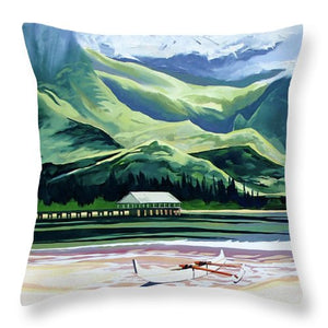 Hanalei Canoe And Pier - Throw Pillow