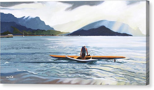 Hanalei Paddler - Canvas Print