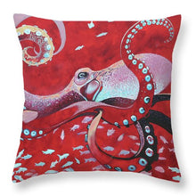 Load image into Gallery viewer, He'e Maroon - Throw Pillow
