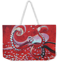 Load image into Gallery viewer, He'e Maroon - Weekender Tote Bag