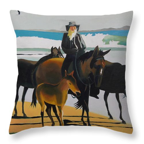 Horseback Hermit - Throw Pillow