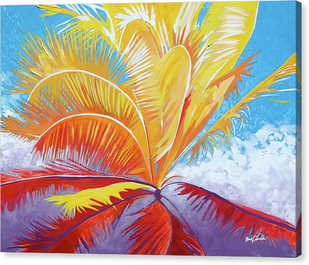 Majenta Palm - Canvas Print