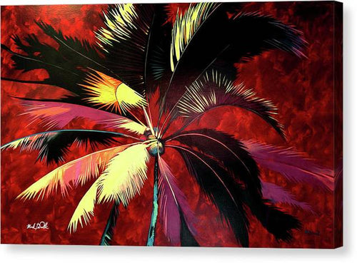 Maroon Palm - Canvas Print