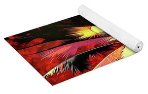 Maroon Palm - Yoga Mat